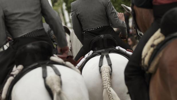 Paseo de caballos en la Feria de Abril