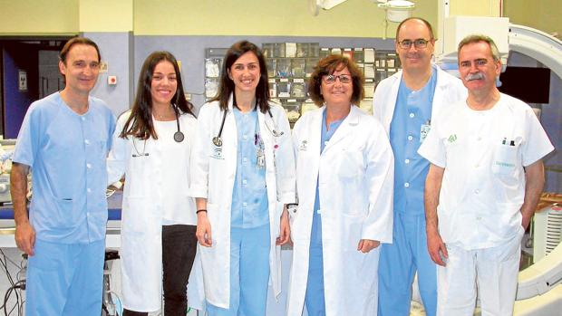 F. Javier Molano, Mª José Romero, Cristina Navarro, Dolores García, Ricardo Pavón y Cristóbal Rodríguez