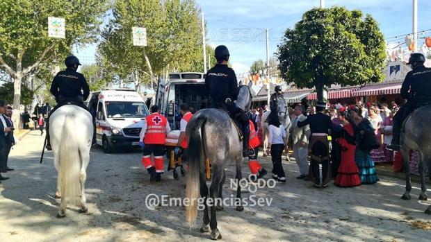 La llegada inmediata de los servicios de Emergencias y la Policia