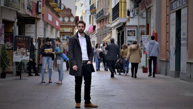 Pablo Vidarte, en la calle Sierpes