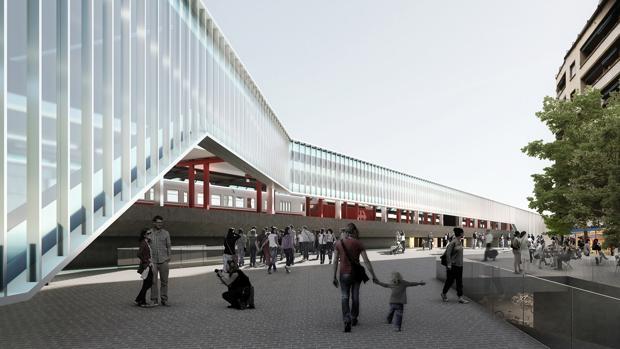 Recreación de la futura estación de trenes de Ginebra