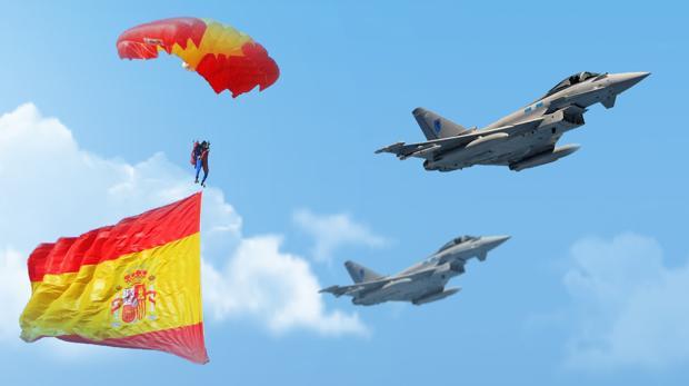 Dos Eurofghters sobrevolarán este sábado el cielo de Sevilla