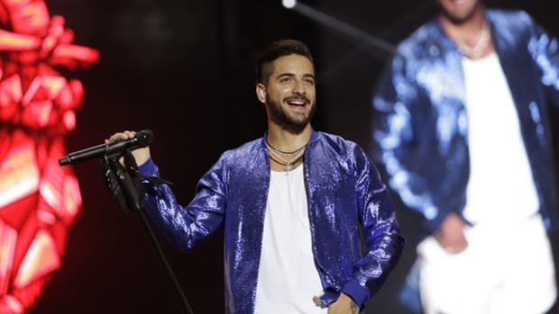 Maluma en su concierto celebrado en Sevilla en 2017