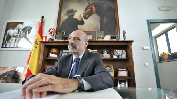 José Juan Morales, en el Cortijo del Cuarto, sede de Ancce