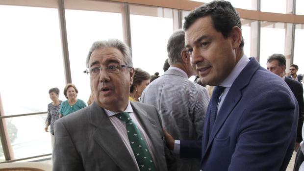 Juan Ignacio Zoido y Juanma Moreno, en una imagen de archivo
