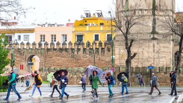 Se espera que el fin de semana también esté pasado por agua en Sevilla