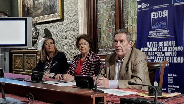 Díaz, Castreño y Pozuelo, en la rueda de prensa de este lunes