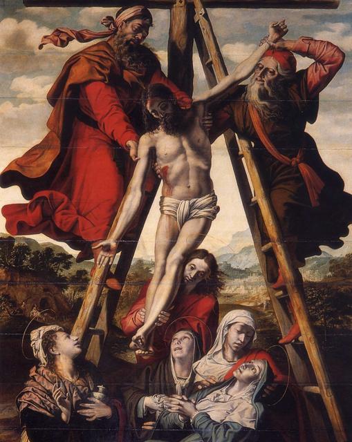 El cuadro del Descendimiento de Cristo, de Pedro de Campaña