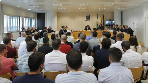 Sesión del juicio por el amaño de las oposiciones de la Policía Local de Sevilla