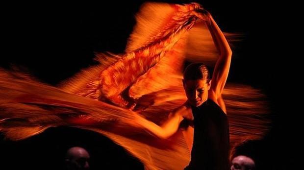 Sara Baras, durante una actuación