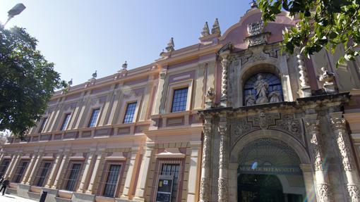 Entrada principal del museo de Bellas Artes de Sevilla