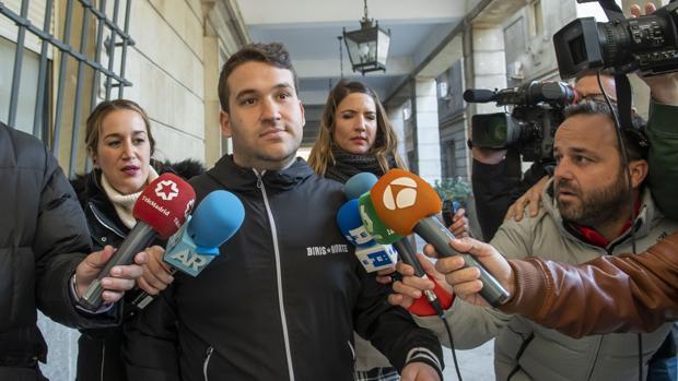 Uno de los miembros de la Manada, Ángel Prenda, en los juzgados de Sevilla el pasado miércoles