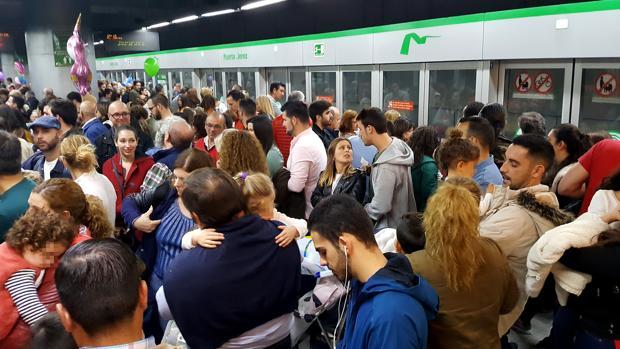 Huelga de metro el pasado día 6 de diciembre
