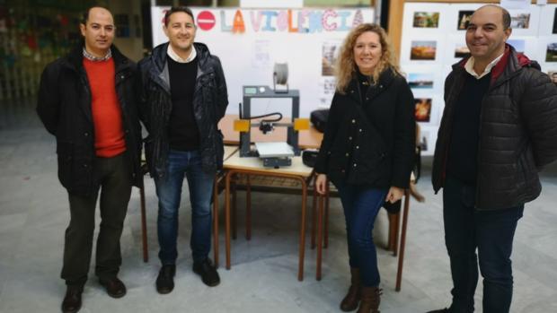 Roberto Marín, Juan Antonio Pérez, Rosa Jiménez y Manuel Moreno