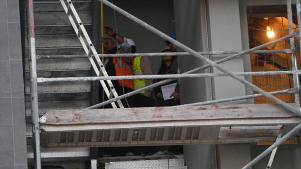 Interior de la obra horas después de producirse el accidente laboral