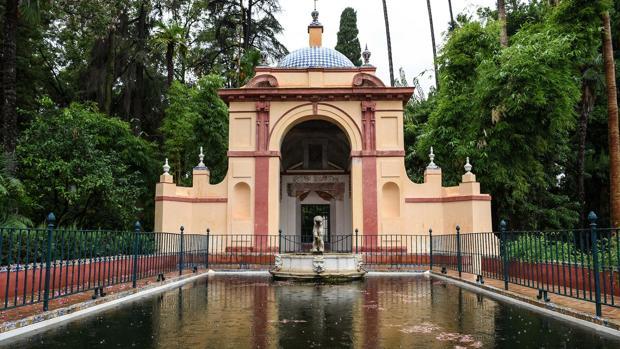 El Cenador del Real Alcázar, cuyos trabajos de conservación se acometieron el pasado año