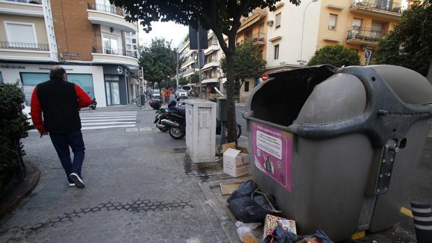 Suciedad en la calle Asunción