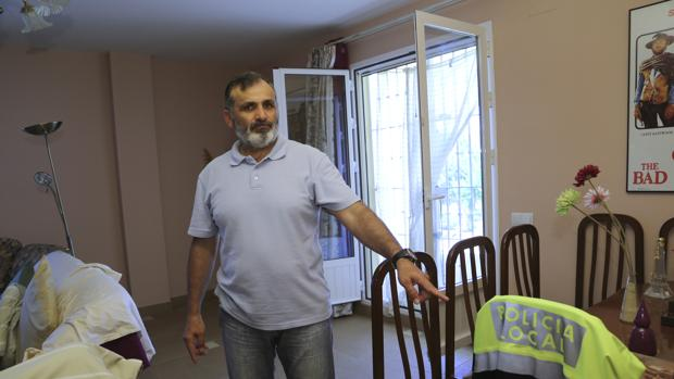 Casimiro Villegas, en su vivienda, donde ocurrieron los hechos