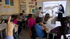 Fotografía de archivo que muestra un aula de colegio