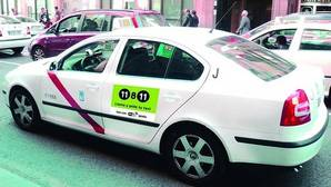 Uno de los taxis equipados con wifi