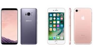 Galaxy S8 frente al iPhone 7: ¿cuál es mejor?