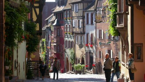 Una de las calles de Riquewihr