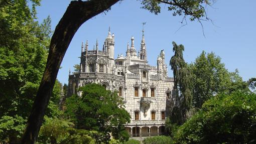Vistas del Palacio de Regaleira, en el centro histórico de Sintra