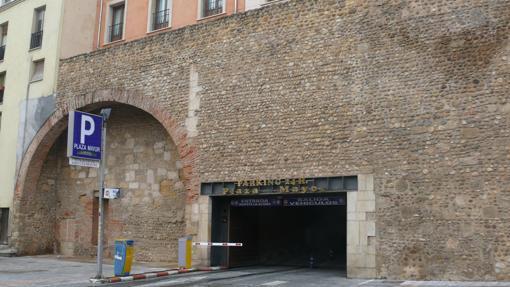 Parte de la muralla del campamento romano de las legio VI y VII en el barrio Humedo de León