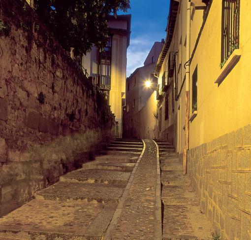 Vista del barrio judío de Segovia