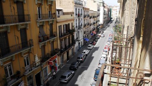 Calle Buenos Aires, en el barrio de Ruzafa,Valencia