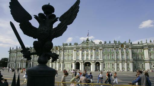 Fachada del Mueso Hermitage, en San Petersburgo