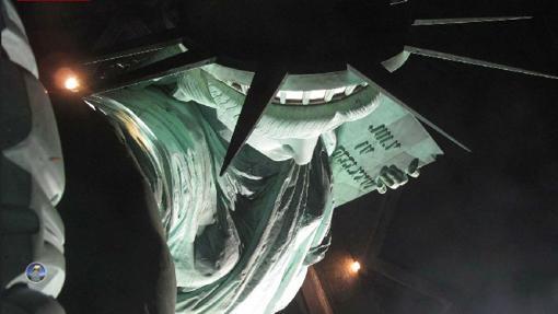 Vista de la Estatua de la Libertad desde la antorcha