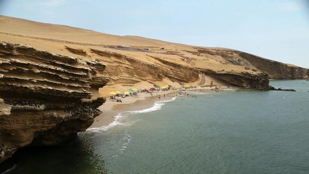 Fotografía tomada el 17 de febrero del 2017 de la playa denominada como «El raspón», dentro de la Reserva de Paracas