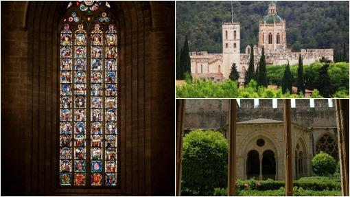 A la izquierda, el ventanal gótico de la fachada