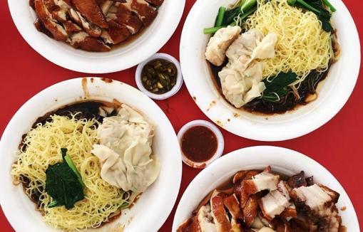 Varios platos del restaurante de Chan Hong Meng, en Singapur