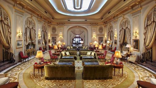 El hall de El Palace Hotel, en Barcelona