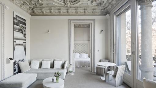 Una de las suites de El Palauet Living Barcelona