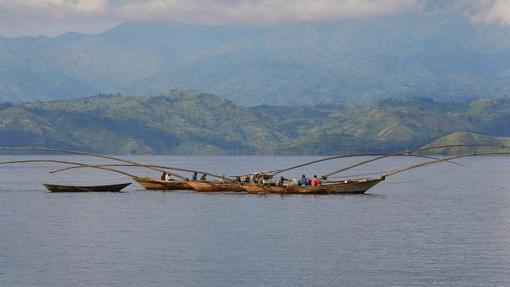 Lago Kivu, en 2009