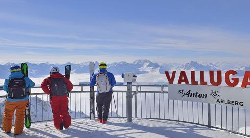 Vista desde la plataforma de Valluga