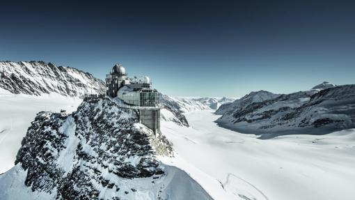Sphinx, un observatorio un meteorológico situado en la cadena montañosa Patrimonio de la Humanidad de Jungfrau-Aletsch-Bietschhorn