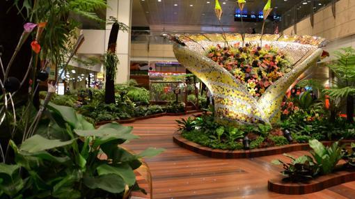 Jardines en la terminal 2 de Changi
