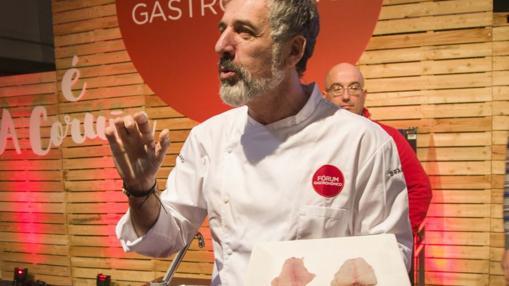 Pepe Solla, durante su ponencia en el Fórum Gastronómico