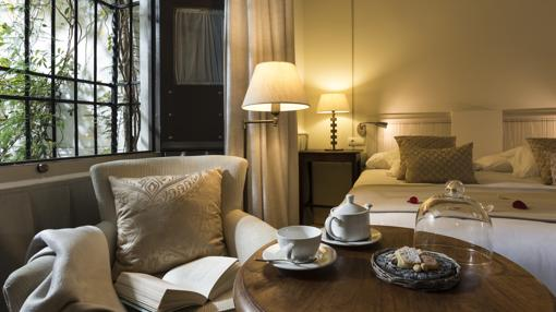 Una d elas maravillosas habitaciones del hotel. Fuente: balcondecordoba.com