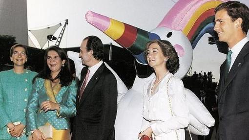 La Familia Real en al inauguración del aExpo 92