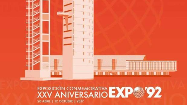 Cartel de la Exposición Conmemortativa del 25 aniversario de la Expo 92