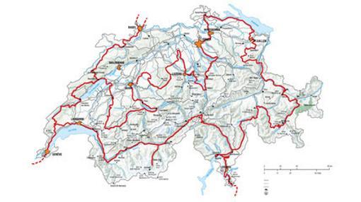 La Gran Ruta de Suiza recorre los sitios más interesantes de Suiza, por carreteras espectaculares