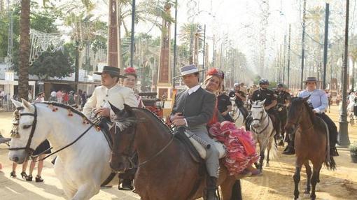 Jinetes en la Feria del Caballo de Jerez