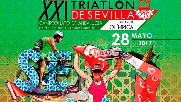 Cartel del XXI Triatlón de Sevilla