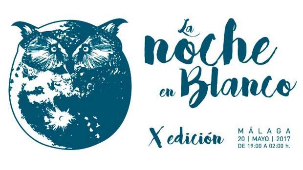 Cartel oficial del a X edición de la Noche en Blanco de Málaga