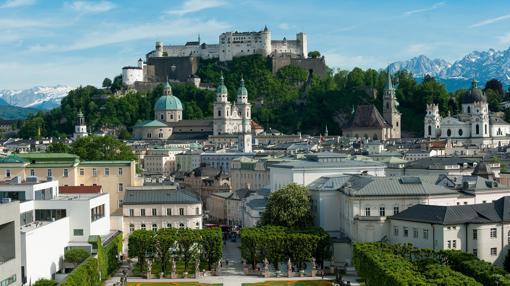 Cualquier perfespectiva de Salzburgo muestra esta ciudad como una obra de arte